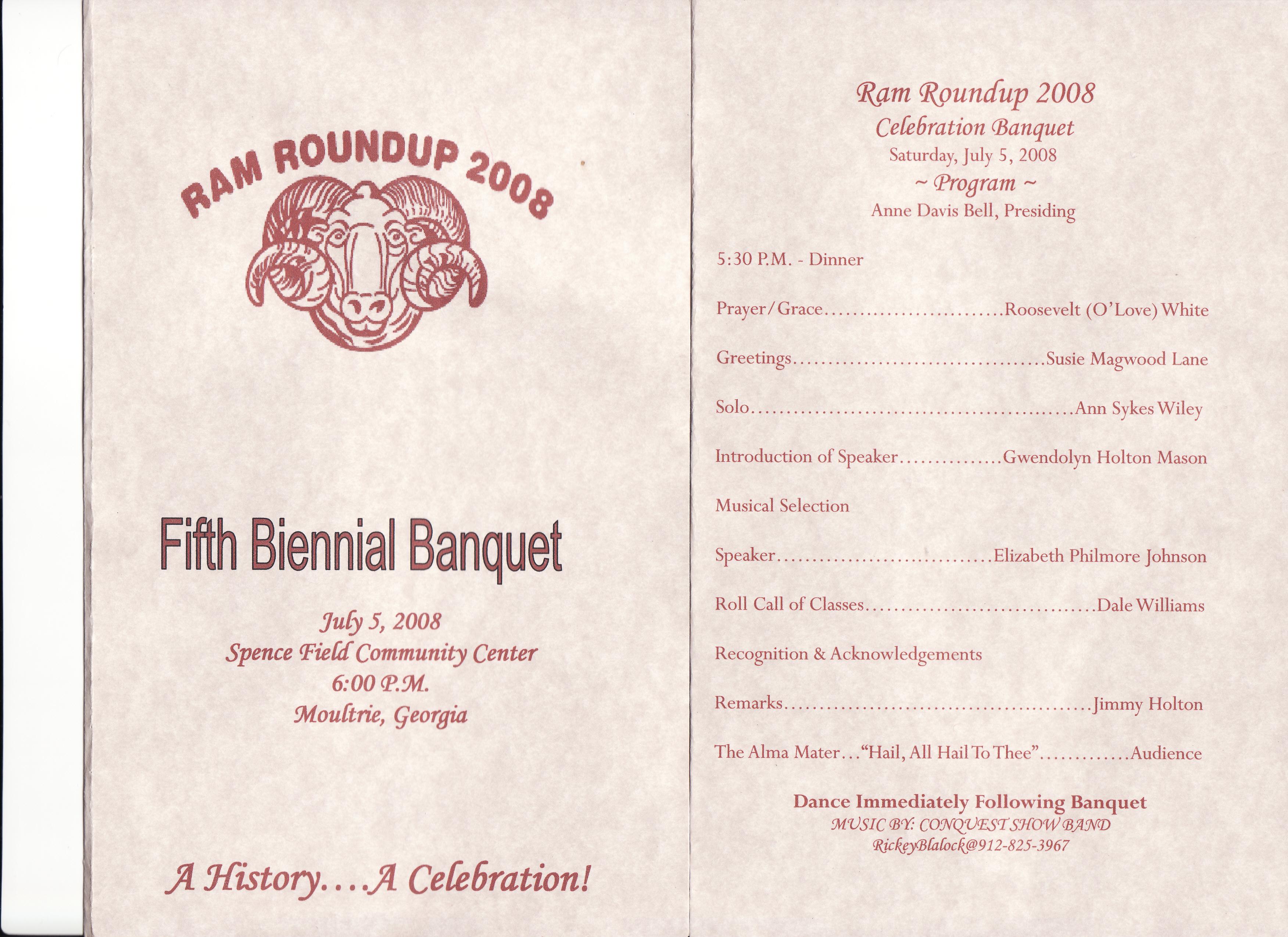 banquet program examples